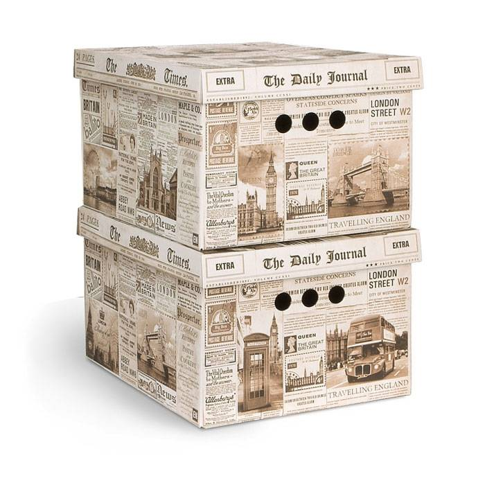 красивая коробка для хранения с принтом Англия