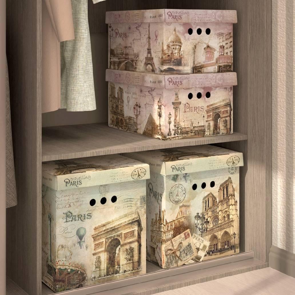 декоративные коробки для хранения Париж