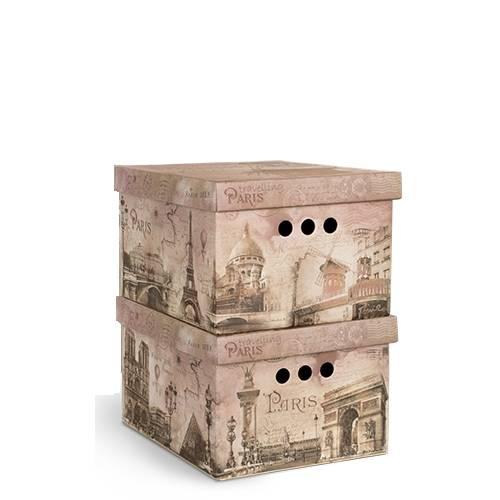 маленькие коробки для хранения Франция принт