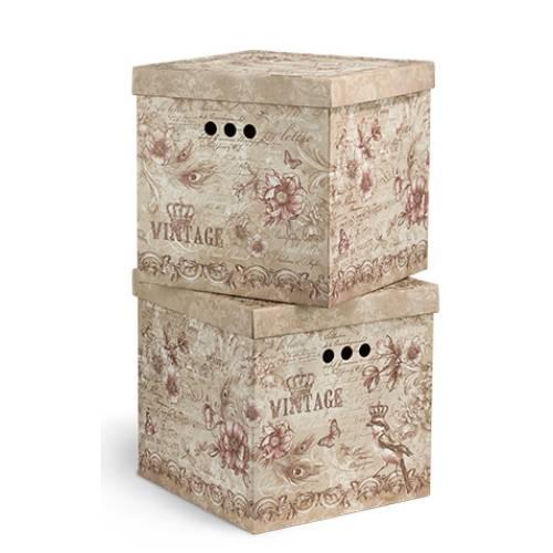 квадратные коробки для хранения декоративные