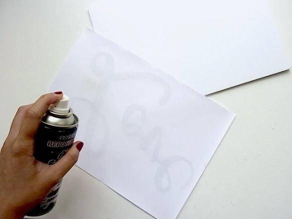 Как сделать надпись под бумаг