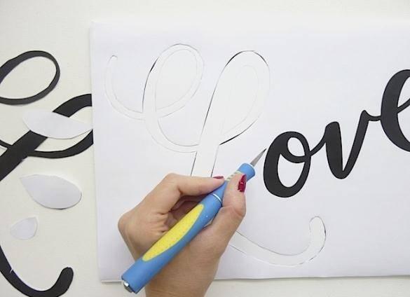 Как сделать трафарет с надписью своими руками