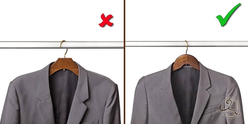 вешалка для костюма с расширенными плечиками