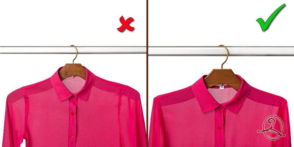 правильный подбор вешалки по размеру одежды